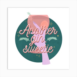 Gin Sweetie Square Art Print
