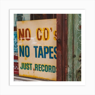 Just Records Square Art Print