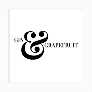 Gin And Grapefruit Screwdriver Cocktail Recipe Square Art Print