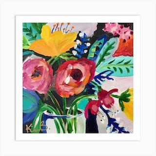 Floral 3 Square Art Print