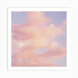 Clouds Square Art Print