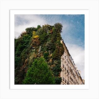 Parisian Vertical Garden II Square Art Print