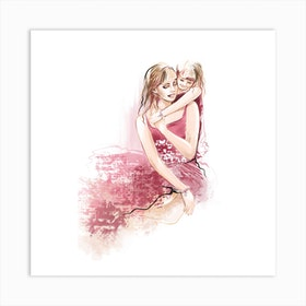 Mothers Day Square Art Print