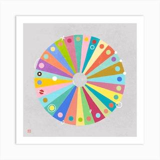 Slices Of Color Mandala Art Print