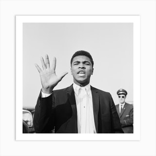 Cassius Clay In London For His Non Title Clash With Henry Cooper Art Print