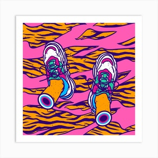 How About Tigers Carpet Square Art Print