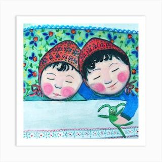 Baby Twin Square Art Print