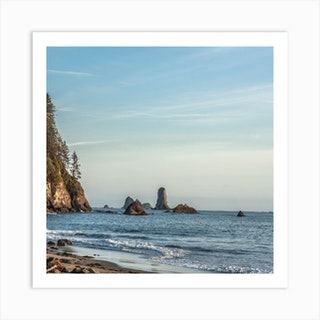 Sea Stacks Square Art Print