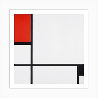 Composition No I, With Red And Black (1929), Piet Mondrian Square Art Print