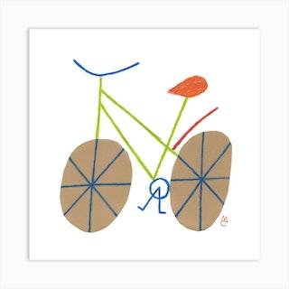 Bike 2 Square Art Print