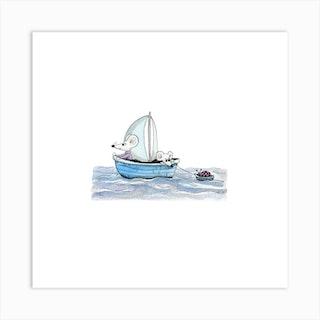 Sailing Mice Art Print