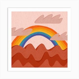 Beyond Every Stormy Sea Square Art Print