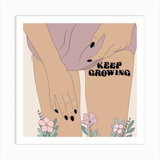 Keep Growing Art Print