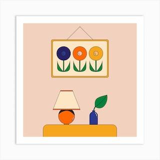 Mood Square Art Print
