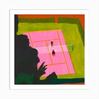 Match Square Art Print