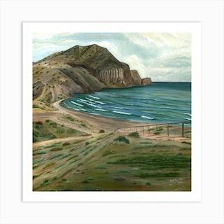 White Rocks Beach Square Art Print