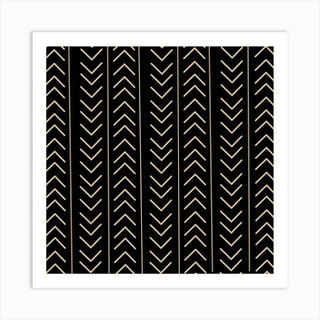 Mudcloth Black Art Print