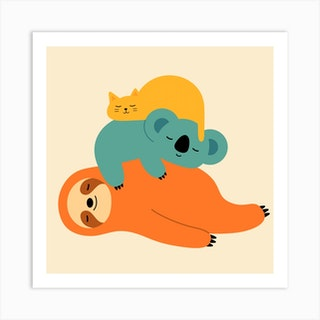 Being Lazy Square Art Print