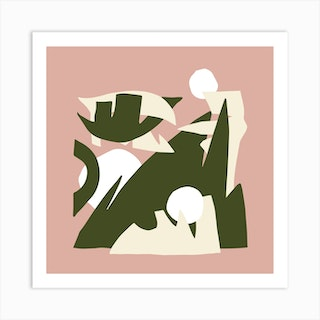 The Playful Mountain Square Art Print