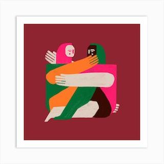 Amantes Art Print