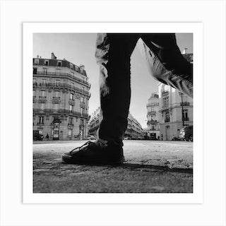 Foot Steps In Paris France Art Print