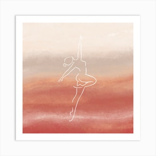Dancer 1 Square Art Print
