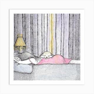 Monday Morning Square Art Print