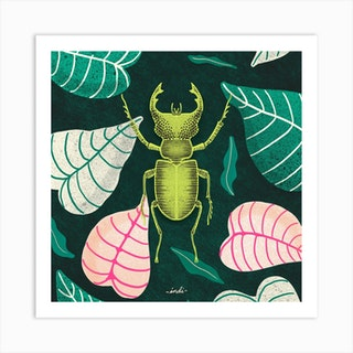 Bug 01 Square Art Print