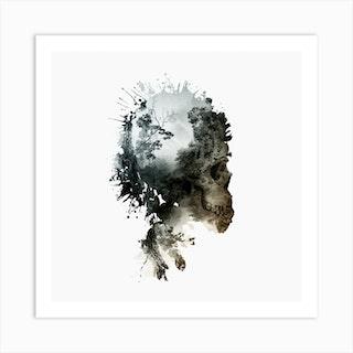 Skull Metamorphosis Square Art Print