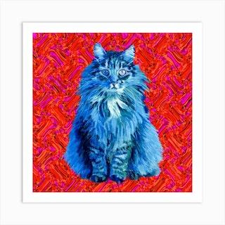 The Cat Square Art Print