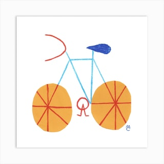 Bike 1 Square Art Print