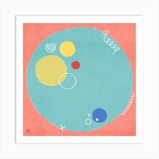 Petri Dish Minimalist Mandala Art Print