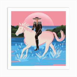 Horse 3 Square Art Print