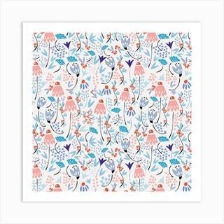 Winter Flora Li Square Art Print