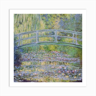 The Waterlily Pond With The Japanese Bridge, 1899 by Claude Monet Art Print