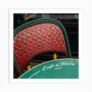 Paris Cafe III Square Art Print