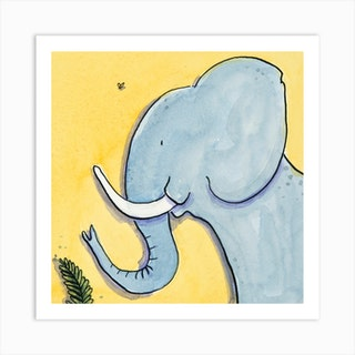 Marjory Elephant Square Art Print