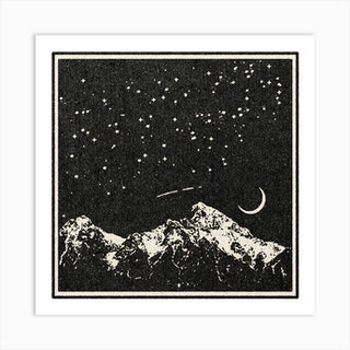 A Night In The Mountains Art Print