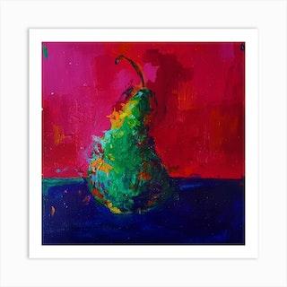 Pear Square Art Print