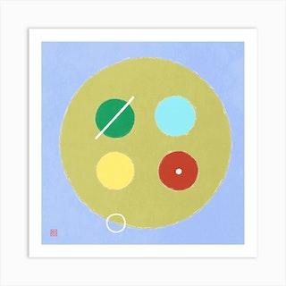 Button Minimalist Mandala Art Print