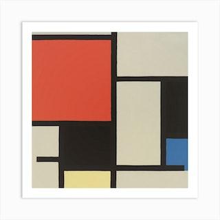 Composition (1921), Piet Mondrian Square Art Print