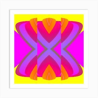 Melon Slice Square Art Print