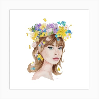 Floral Muse Square Art Print