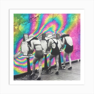 Girls Trip Square Art Print