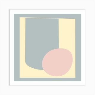 Minimalist Abstract In Pastels 3 Art Print
