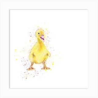 Happy Duckling Art Print