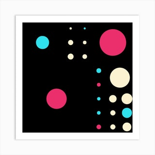 Yayay Dots Poppy Square Art Print
