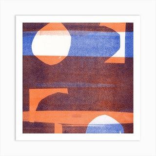 Abstract Composition 6 Square Art Print