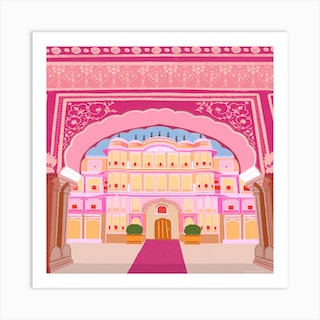 Indian Archway Square Art Print