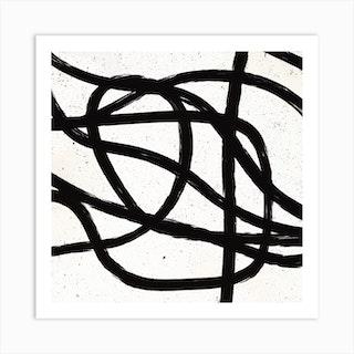Scandinavian Marker Line 3 Square Art Print